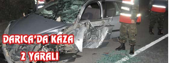 Darıcada Kaza 2 Yaralı