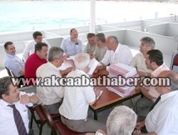 Balıkçı Teknesinde Toplantı Gerçekleştirdiler