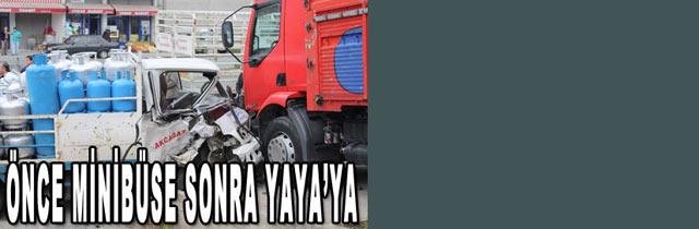 Akçaabatta Trafik Kazası 1 yaralı