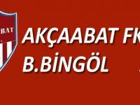 Akçaabat FK Belediye Bingölspor'u 3-0 mağlup etti.