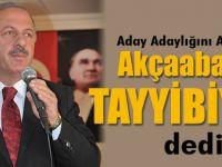 "Cevat Birinci Aday Adaylığını Yaptı. ""Akçaabat'ın Tayyibiyim"" dedi."