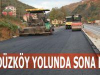 Akçaabat-Düzköy Yolu'nunda çalışmalar sürüyor