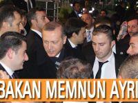 Başbakan Erdoğan Akçaabat'tna Memnun ayrıldı.