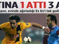 Trabzonspor Eskişehir'i 1-0 mağlup etti.