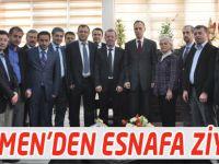 Türkmen, Akçaabat Esnaf Kefalet Kooperatifi'niz ziyaret etti.