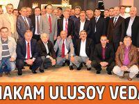 Kaymakam Uluysoy'a Veda