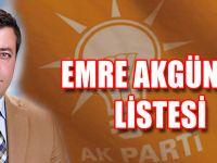 Emre Akgün'ün Listesi