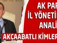 AK Parti Yönetim Listesinin Analizi