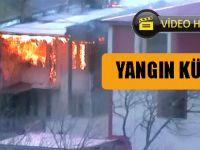 Akçaabat'taki Yangın Kameraya Böyle Yansıdı