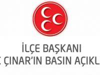 Çınar'dan Sert Eleştiri