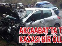 Akçaabat'ta Trafik Kazası
