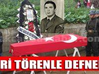 Askeri Törenle Defnedildi