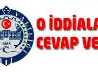 Trabzon Valiliği o iddialara cevap verdi.