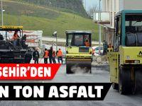 Büyükşehir'den 85 bin ton asfalt