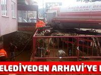AKÇAABAT BELEDİYESİNDEN ARHAVİ'YE DESTEK