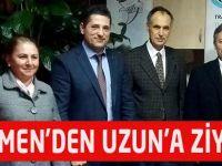 Türkmen'den Uzun'a Ziyaret