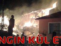 Akçaabat'ta Yangın Kül Etti