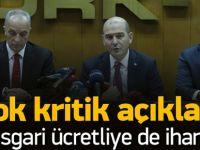 Soylu: Asgari ücrette yüzde 40 teşvik vereceğiz
