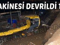 Trabzon'da İş Makinesi Devrildi: 1 Ölü