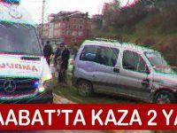 Akçaabat'ta Trafik Kazası,  2 yaralı