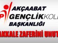 CHPli Gençler Çanakkale'yi Unutmadı