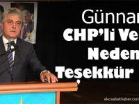 Günnar'dan CHP'li  Vekile Teşekkür