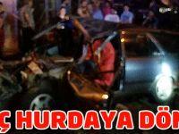 Akçaabat'taki Kazada otomobil Hurdaya Döndü