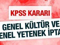 KPSS İptal Edildi
