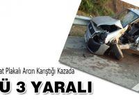 Akçaabat Plakalı Araç Kaza Yaptı