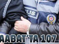 Akçaabat'ta 107 Kişi