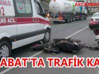 Akçaabat'ta Motosiklet Kazası