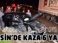 Akçaabat'taki trafik kazasında 6 kişi yaralandı.