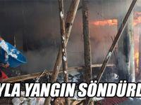 Düzköy'de Yangın