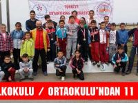 Oryantirigte Meşeli İlkokul-Ortaokulu'ndan 11 Madalya