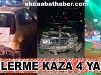 Akçaabat'ta Zincirleme Kaza 4 Yaralı