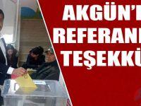 Akgün'den Referandum Teşekkürü