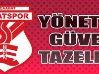 Sebatspor'da Yönetim Güven Tazeledi