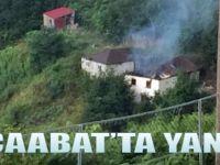 Akçaabat'ta Yangın