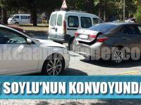 Koruma Polisleri Kaza Yaptı