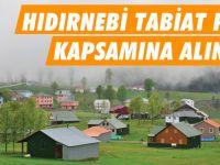 Hıdırnebi Tabiat Parkı Kapsamına Alınıyor.