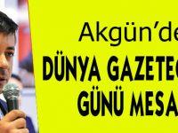 Akgün'den Dünya Gazeteciler Günü Mesajı