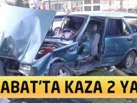 Akçaabat'ta Kaza 2 Yaralı
