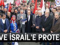 ABD ve İsrail'e Protesto