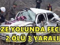 Cenaze Yolunda Feci Kaza 2 Ölü 3 Yaralı