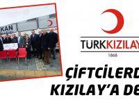 Çiftcilerden Kızılay'a Destek