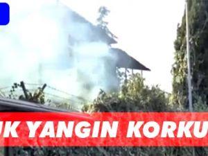 Akçaabat'ta Jandarma tarafından terk edilen eski binada küçük çapta meydana gelen yangın paniğe neden oldu.