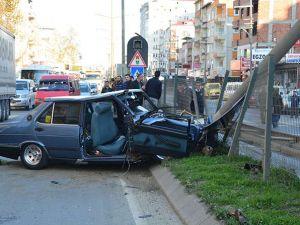 Akçaabat'ta meydana gelen trafik kazasında 3 kişi yaralandı.