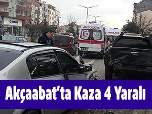 Akçaabat'ta Kaza 4 Yaralı