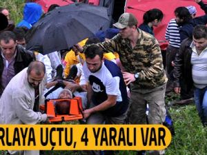 Trabzon'un Akçaabat ilçesindeki trafik kazasında 4 kişi yaralandı