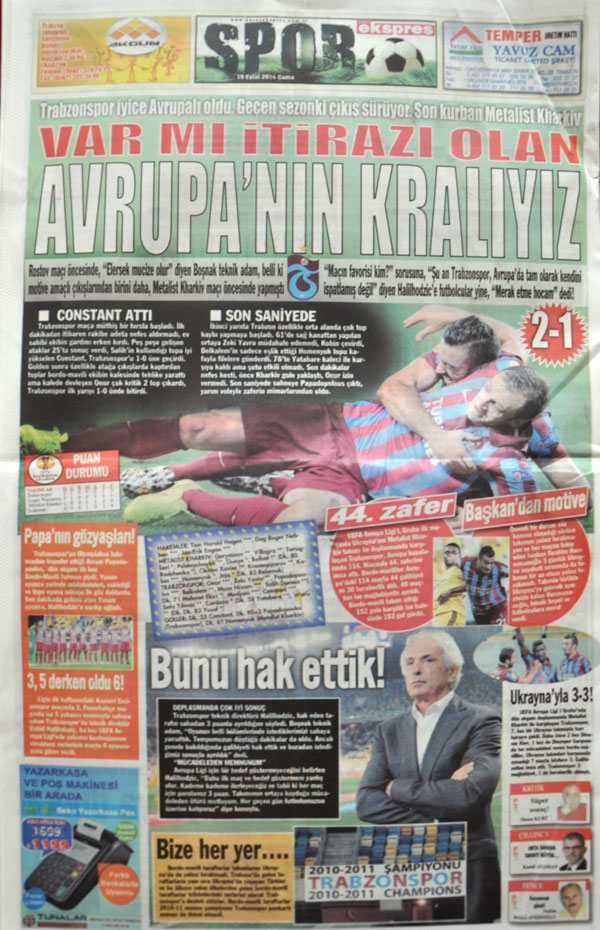 Trabzonspor Avrupa'yı Titretti. galerisi resim 1